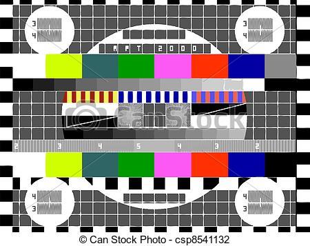 Vector Illustration of tv screen.