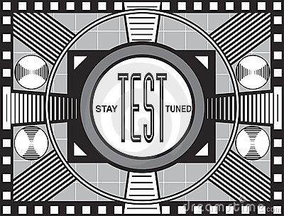 Television Test Pattern Royalty Free Stock Image.