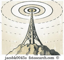 Tv tower Illustrations and Clipart. 1,239 tv tower royalty free.