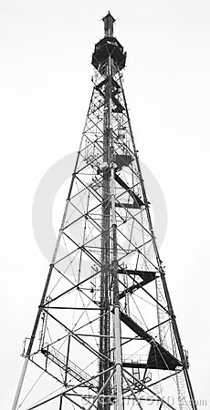 Radio, TV And Communication Tower Stock Photography.