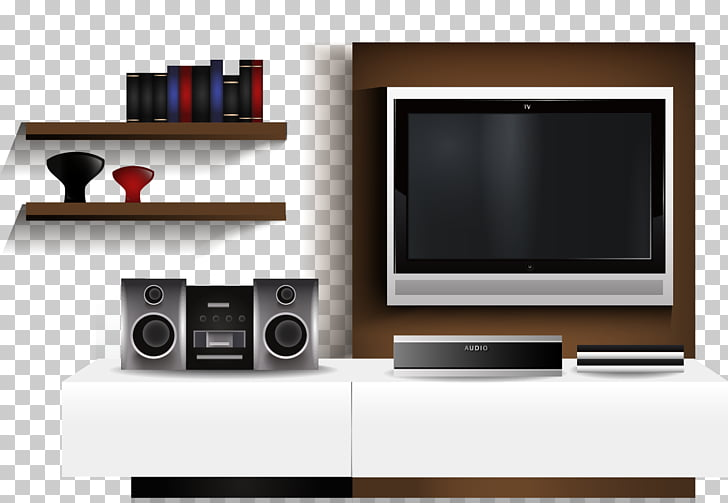 Living room Television Interior Design Services, TV Wall PNG.