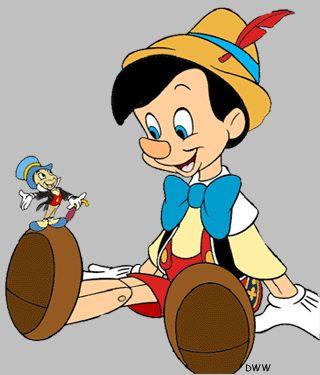 Pinocho y Pepito Grillo, por Disney.