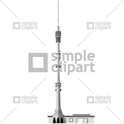 Ostankino TV tower Vector Image #279.