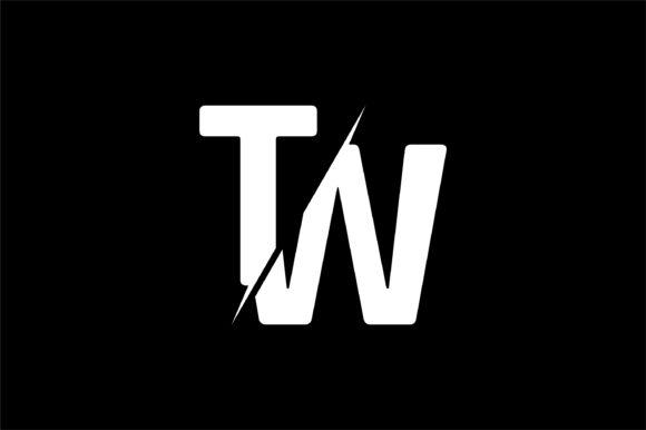 Monogram TW Logo Design.