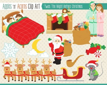\'Twas the Night Before Christmas Clip Art.