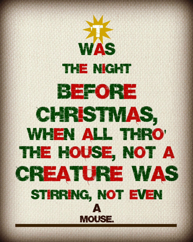 Twas The Night Before Christmas {Free Printable}.