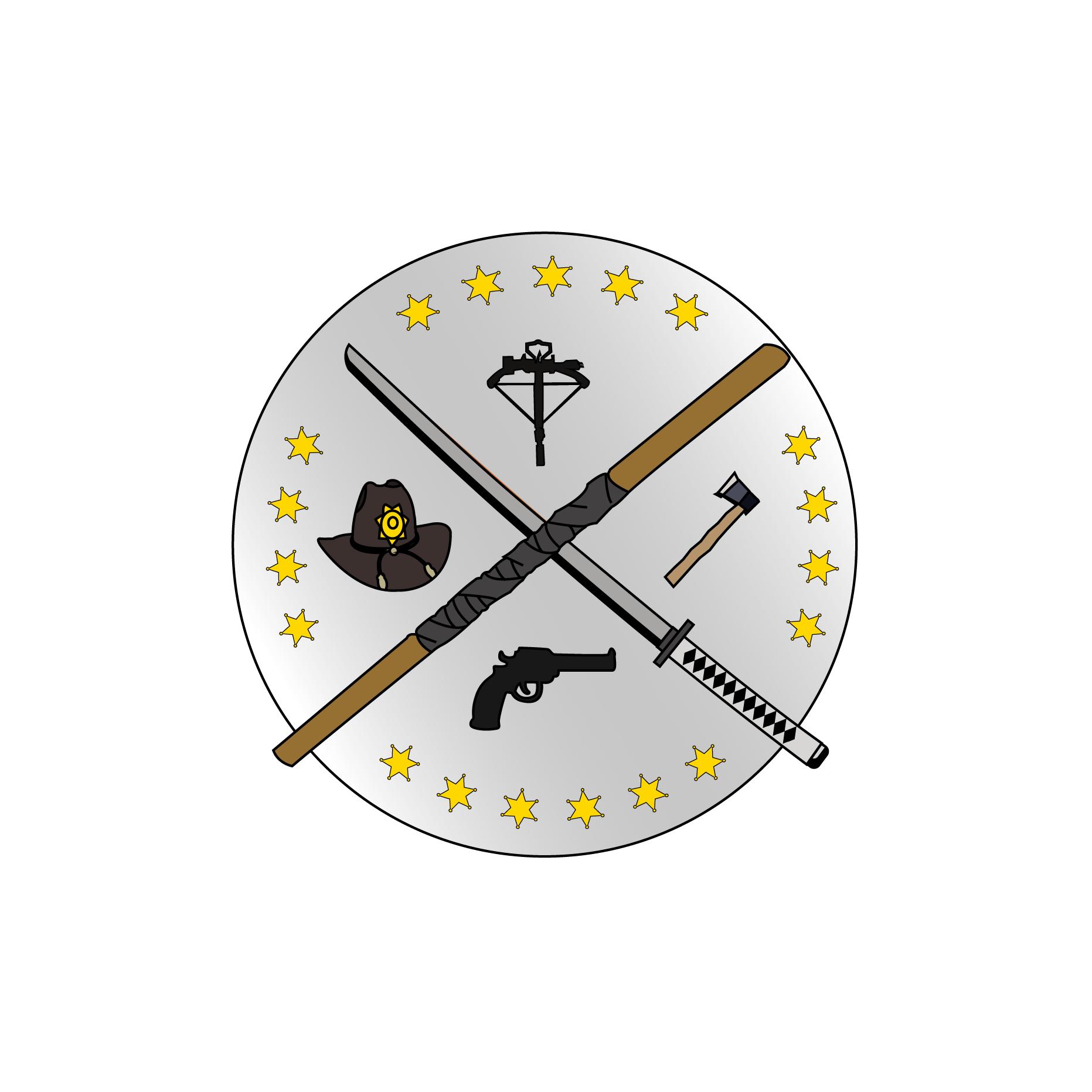 TWD logo/patch. : thewalkingdead.