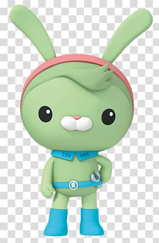 Green rabbit character illustration, Tweak Bunny Posing.