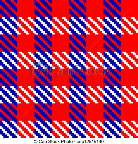 EPS Vector of Red check fabric.