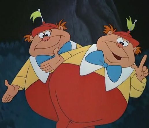 Tweedle Dee and Tweedle Dum in 2019.