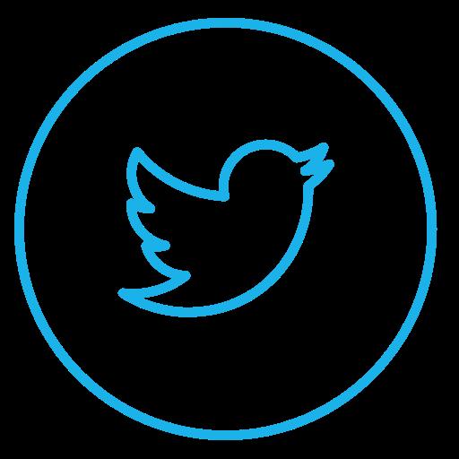 Circle, circles, line, neon, social, tweet, twitter icon.