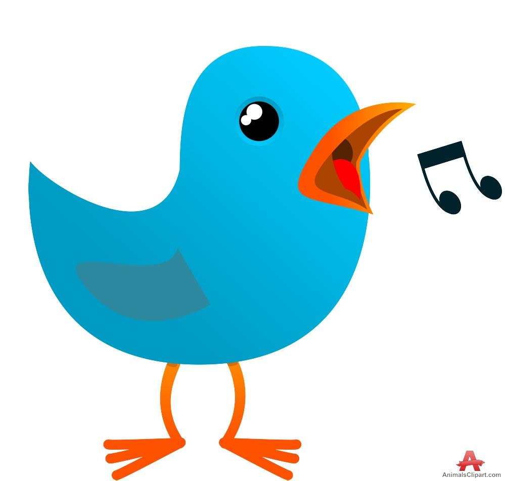Blue Bird Tweeting.