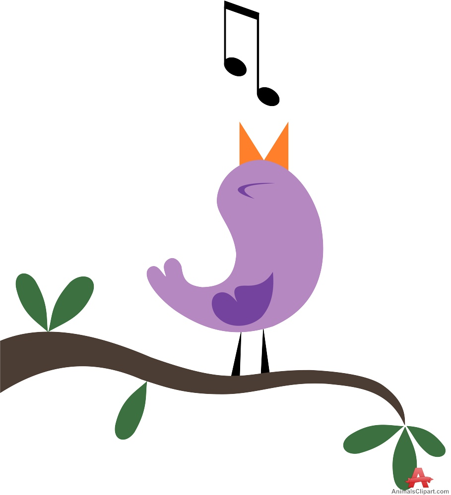 Bird Tweeting on Tree.