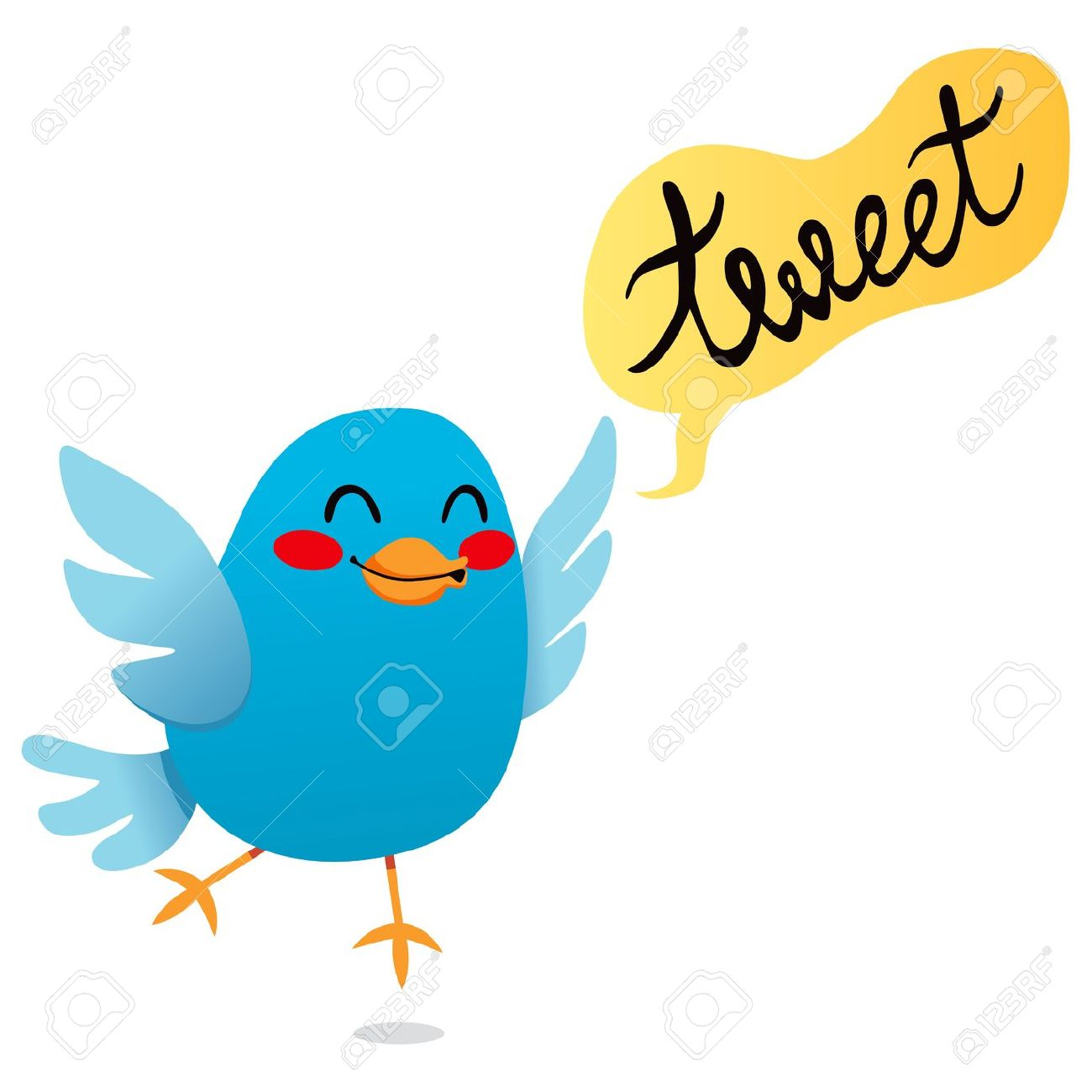 Showing post & media for Cartoon bird tweeting.