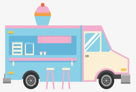 Free Ice Cream Truck Clip Art with No Background.