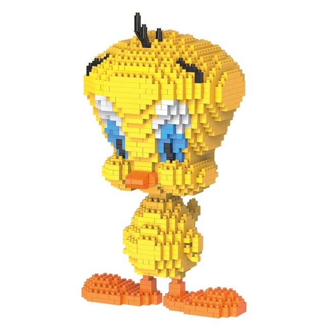 HC Blocks Cartoon Building Toy Big size Tweety Bird Model.