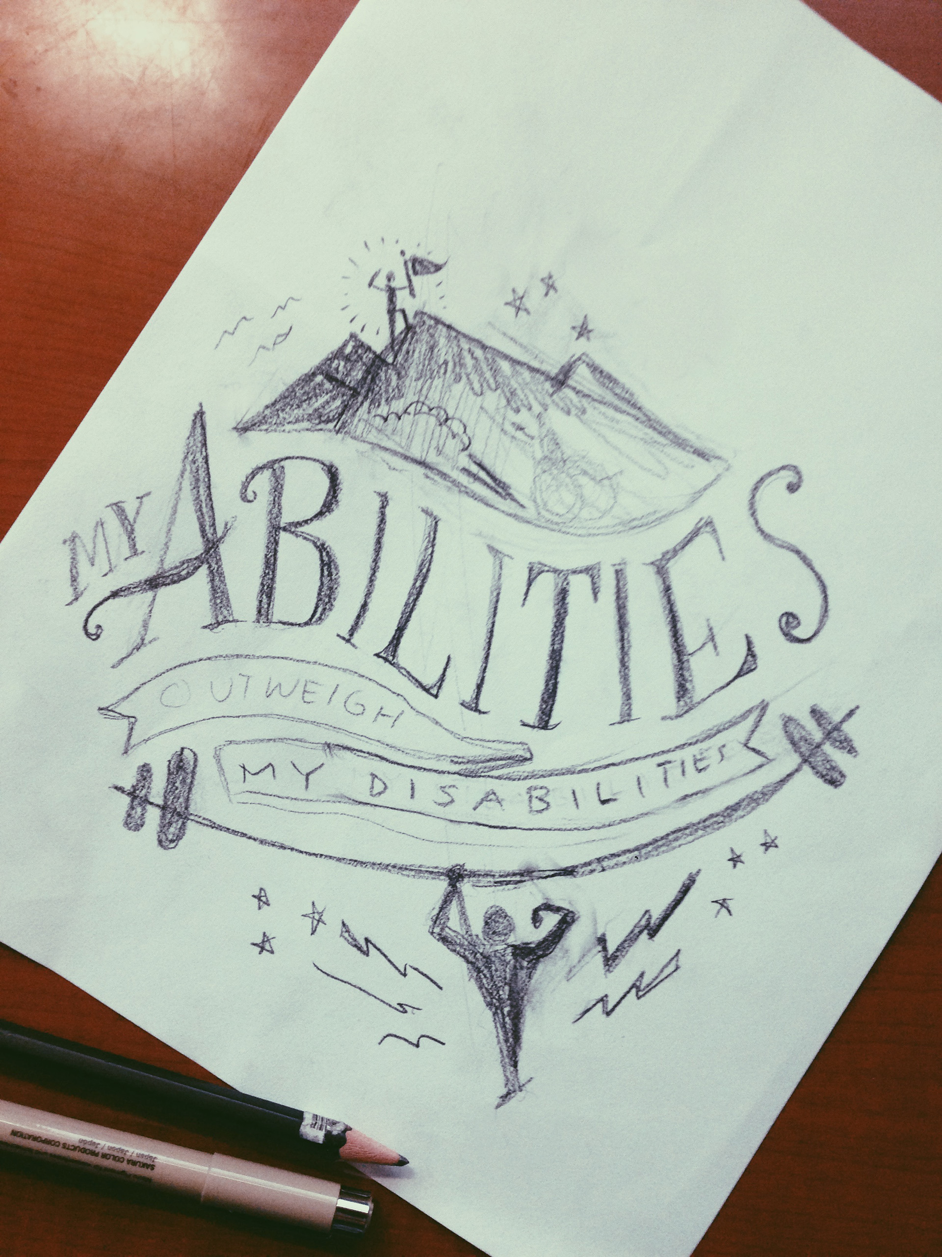 My Abilities Outweigh My Disabilities on Behance.