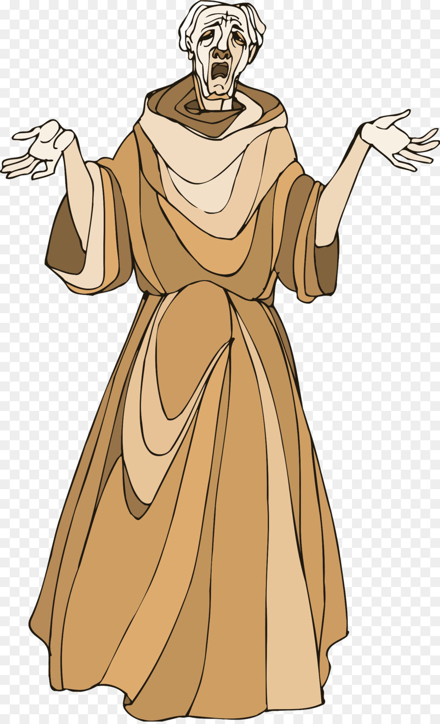 shakespeare characters monk clipart Twelfth Night.
