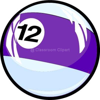 Number Twelve Clipart.