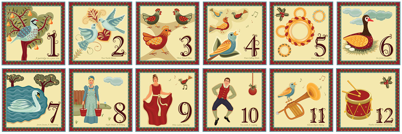 The Twelve Days of Christmas project.