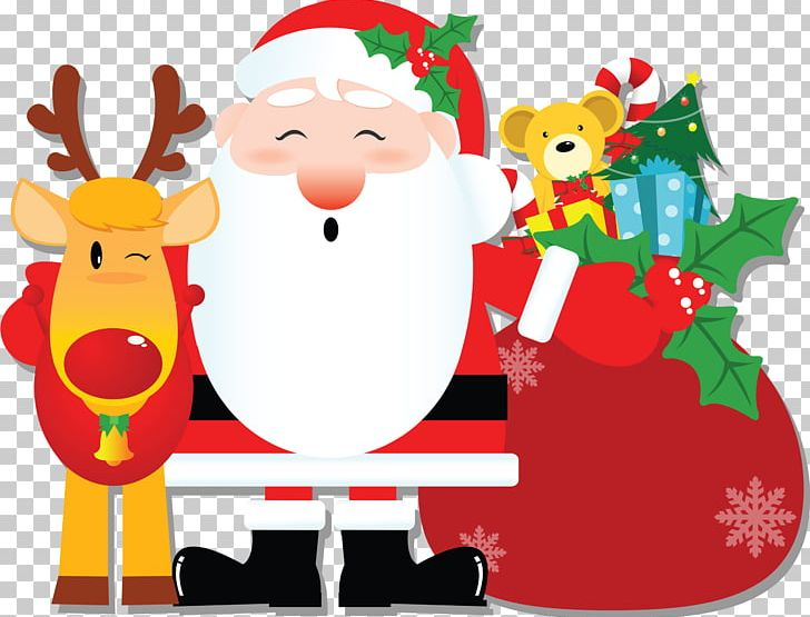 Santa Claus The Twelve Days Of Christmas Candy Cane PNG.