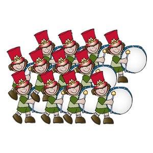 12 drummers drumming clipart » Clipart Portal.