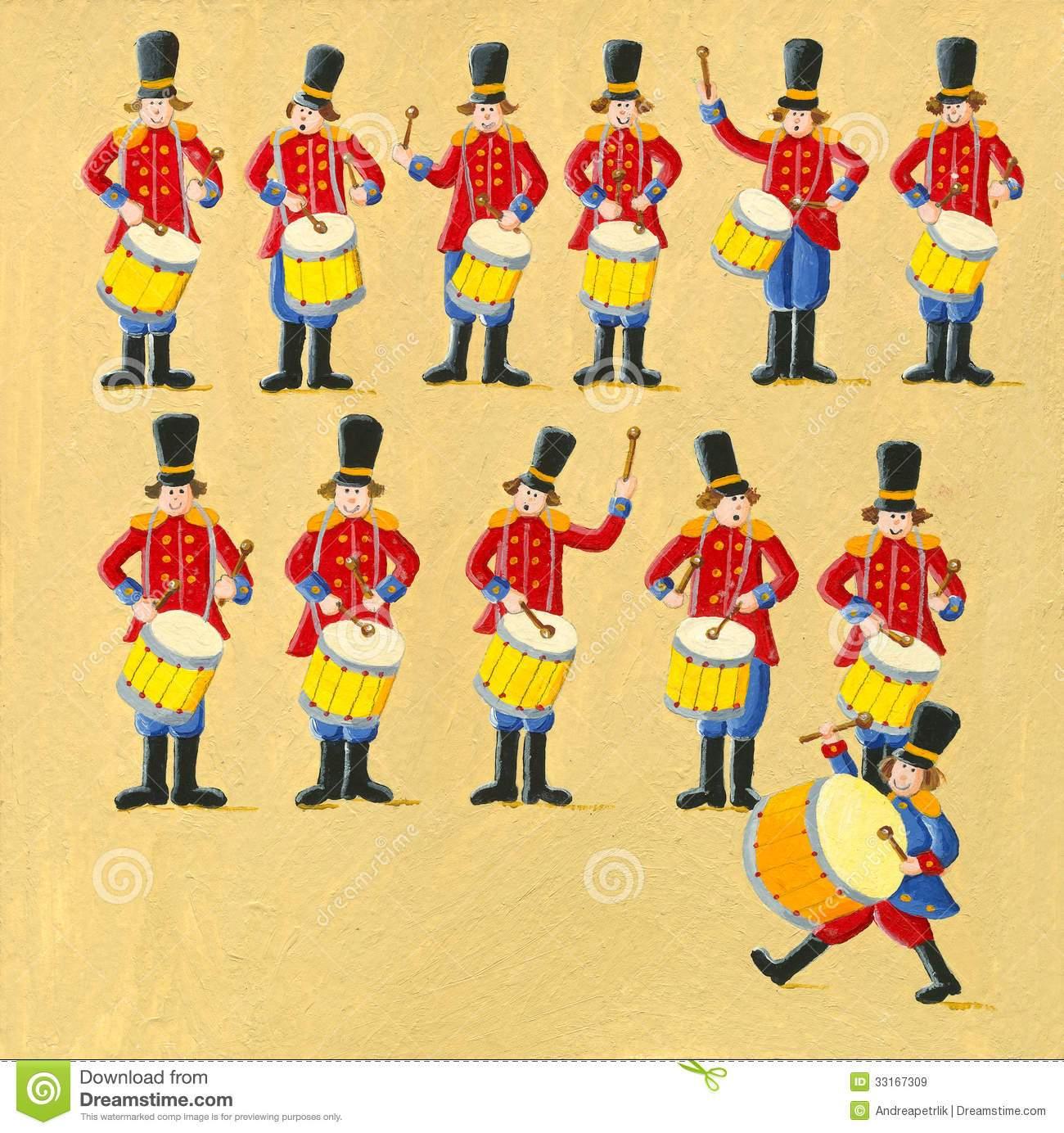 Twelve drummers drumming clipart 8 » Clipart Portal.