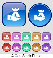 Vector Clipart of Pictograph of gear in head icon sign. A set of.