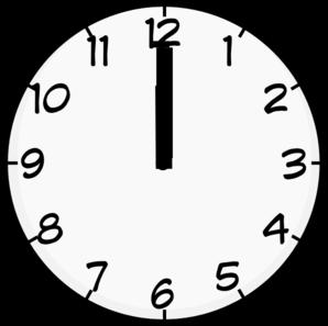 Twelve o'clock clipart.