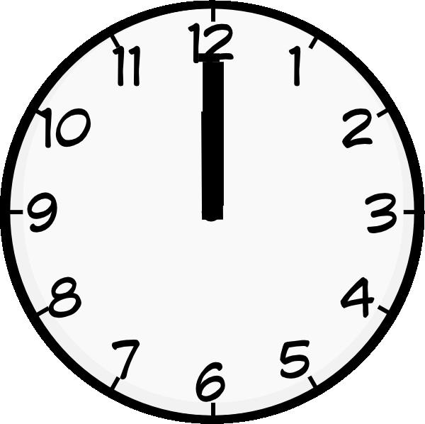 12 O Clock Clip Art at Clker.com.