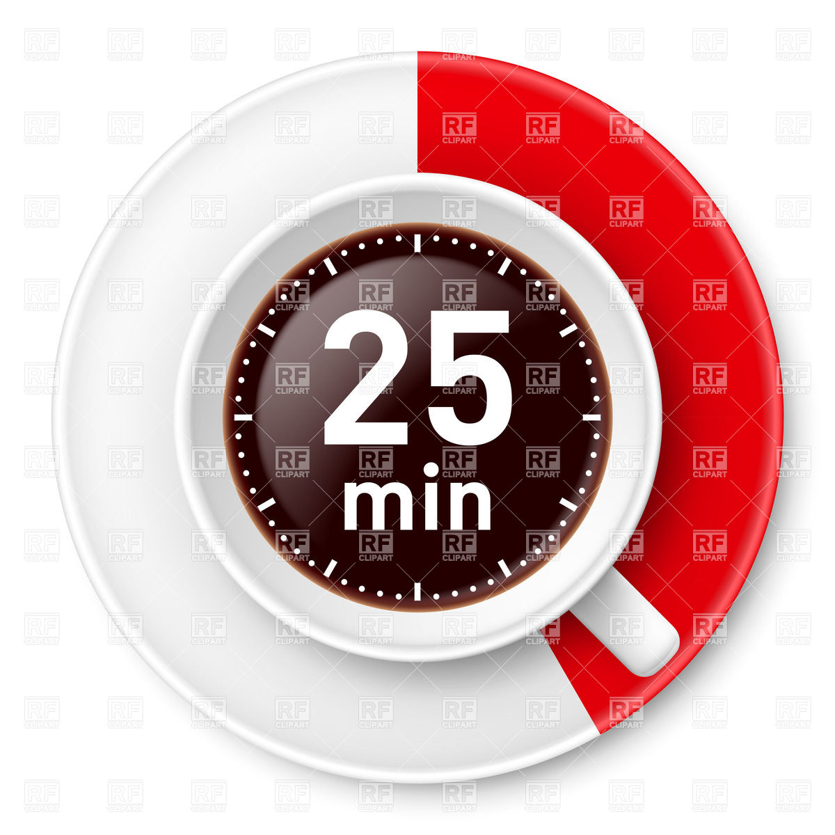 Cup of coffee with time limit for break: twenty.