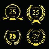 Twenty Five Years Anniversary Clip Art.