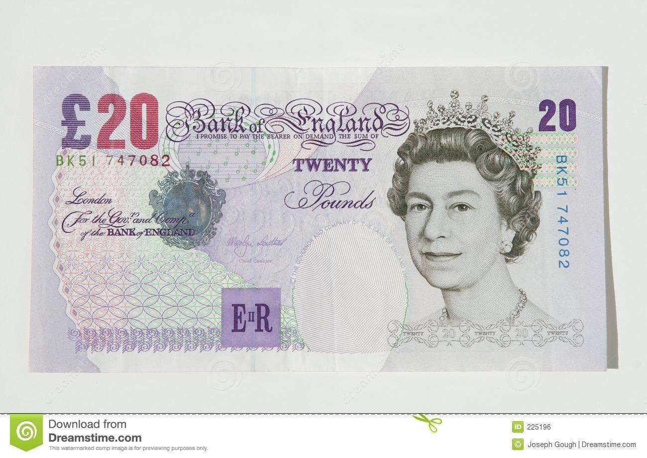 Twenty Pound Note, UK Currency Editorial Photo.