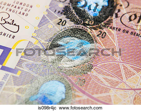 Stock Photography of Close up of twenty pound note is098r4jc.