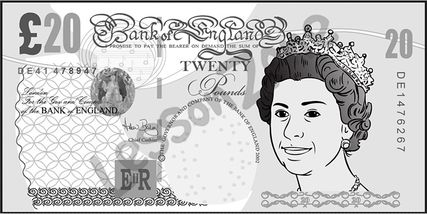 Clipart pound notes.