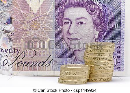 Stock Photo of pounds sterling.