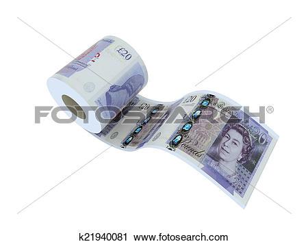 Clipart of twenty pounds roll k21940081.
