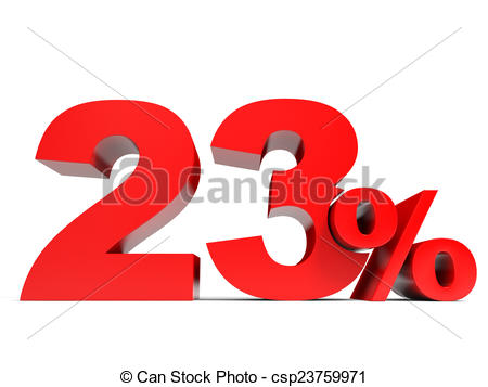 Stock Illustrations of Red twenty three percent off. Discount 23.