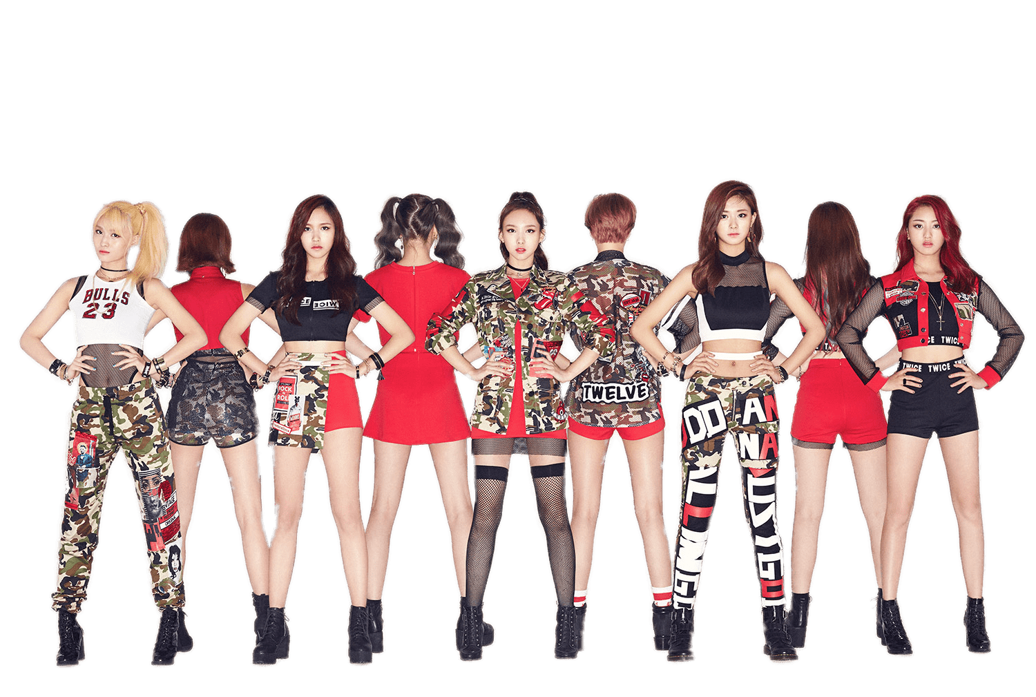 Twice Group Photo transparent PNG.