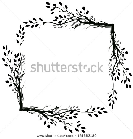 Twig Border Clipart Silhouette Clipground