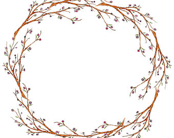 Twig Wreath Clipart.