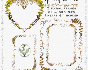 Watercolor Clipart Moss clipart.