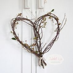 birch branch heart with heart and ivy.