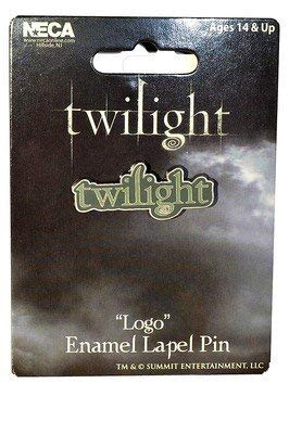 OFFICIAL TWILIGHT LOGO METAL ENAMEL LAPEL PIN.