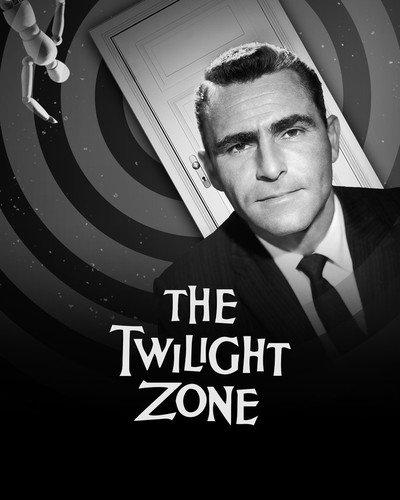 Rod Serling in The Twilight Zone classic Logo door TV series.