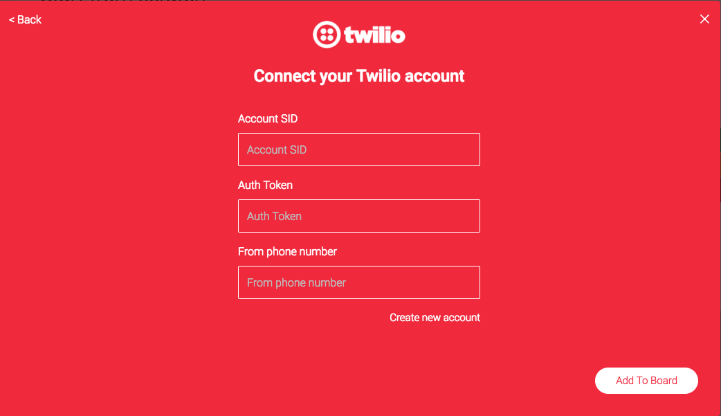 Twilio Integration.