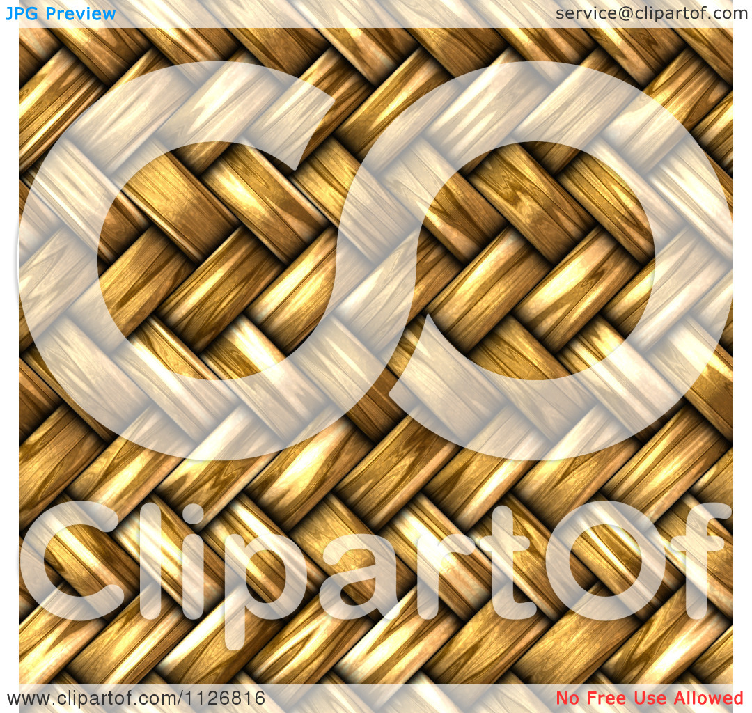 Clipart Of A Seamless 3d Twill Wicker Basket Weave Texture.