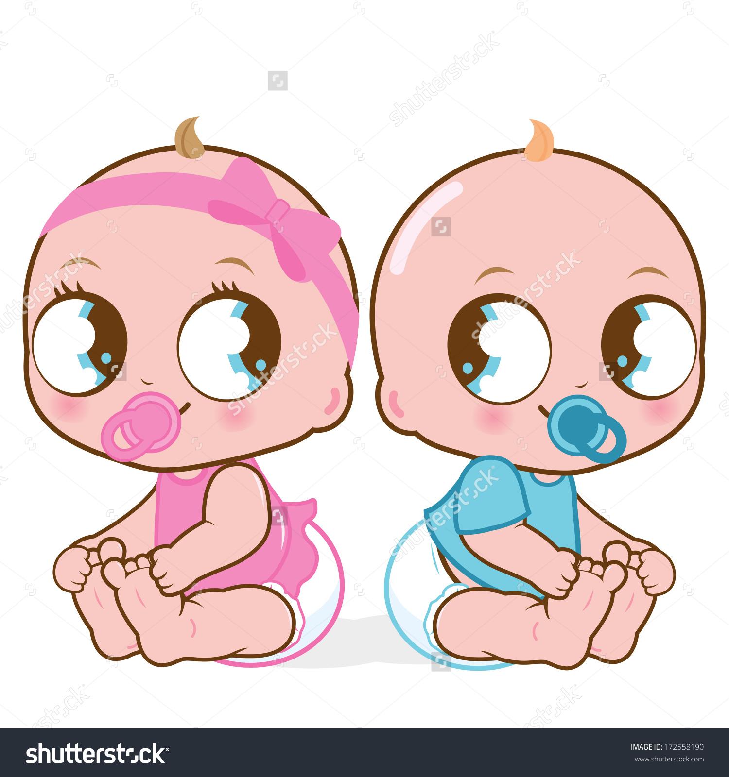 Twin Baby Feet Clip Art (71 ).