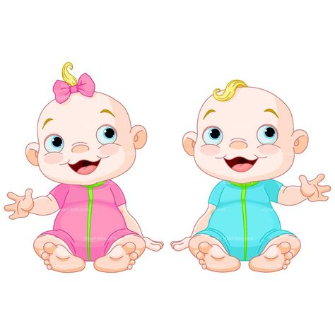 Twin Baby Clipart.