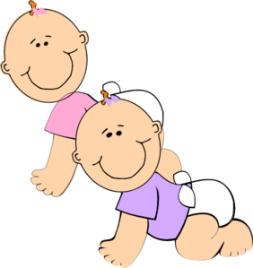 Twin Baby Girl PNG Free Transparent Twin Baby Girl.PNG.